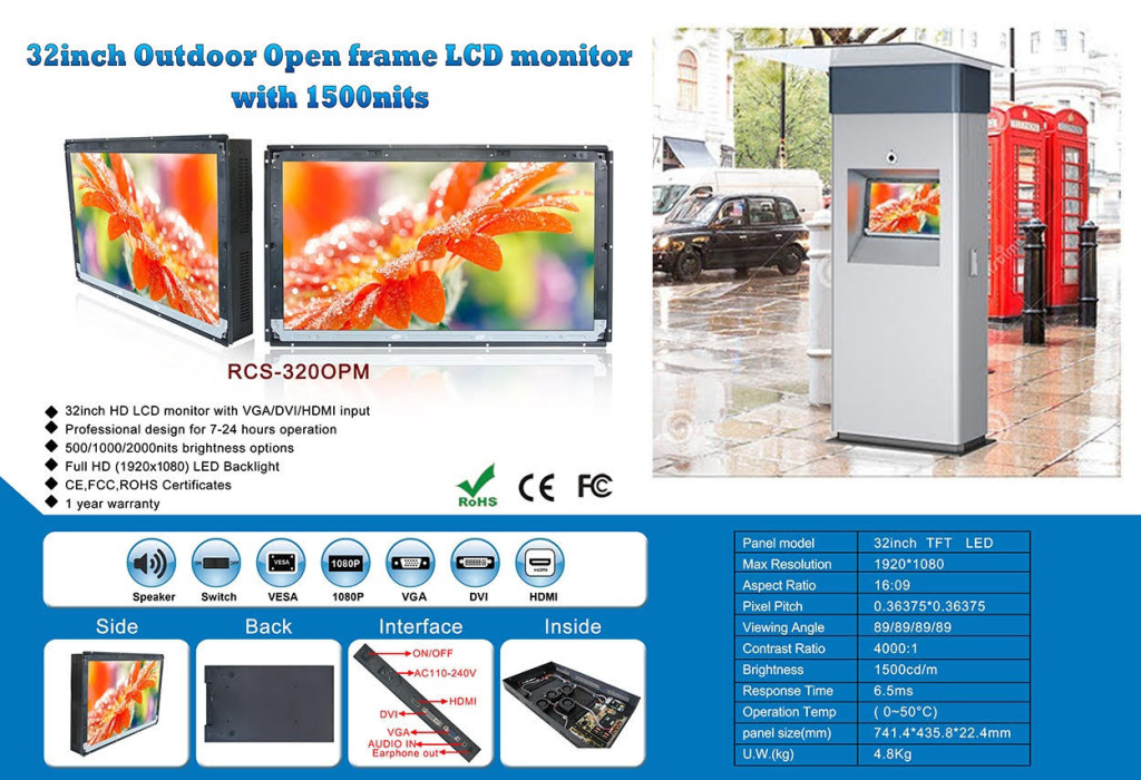 32 open-frame lcd monitor